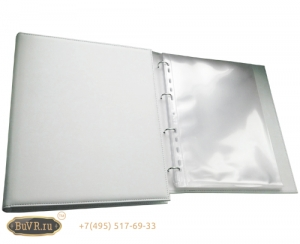 Фото Классическая папка меню на кольцах для 15 файлов. Компания «БуВР»