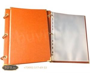 Фото Папки со съемными файлами из кожи и кожзама