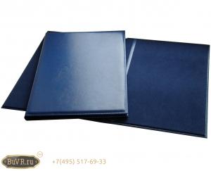 Фото папка адресная синяя кожзам