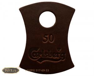 Фото номерок кожаный для тиснения