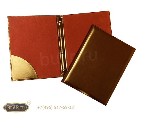 папка меню с карманом